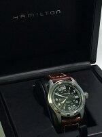 【】HAMILTON/ハミルトン腕時計KhakiFieldAuto38MMカーキフィールドオートH70455533ブラック×ブラウン自動巻き(オートマチック)革(レザー)ベルト