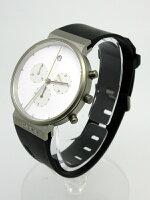 【】JACOBJENSEN/ヤコブイェンセン腕時計601ホワイト×ブラッククォーツラバーベルト