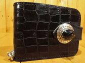 【中古】ALZUNI/アルズニ 二つ折り型押しレザーウォレット / 財布 カラー:ブラック
