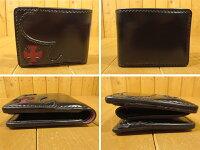 【】THEFLATHEAD(フラットヘッド)コードバンウォレット二つ折り財布カラー:ブラック