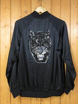 【中古】SAINT LAURENT/サンローラン スパンコール タイガーヘッド レーヨンテディジャケット サイズ:34 カラー:ブラック / インポート【f108】