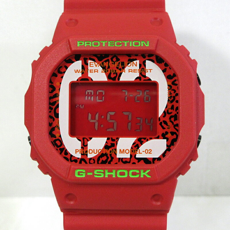 腕時計, メンズ腕時計 CASIO G-SHOCKRADIO EVA DW-5600 EVA-02 THE BEAST MODEL feat.RADIO EVA f131