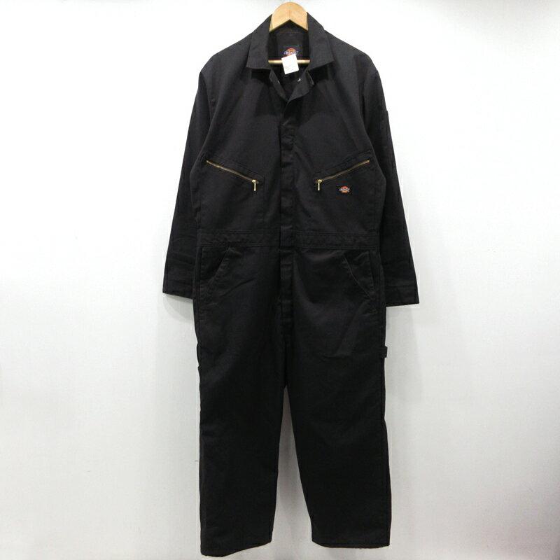 【中古】Dickies ディッキーズ ツナギ カバーオール 長袖 48799 サイズ:L カラー:ブラック【f107】