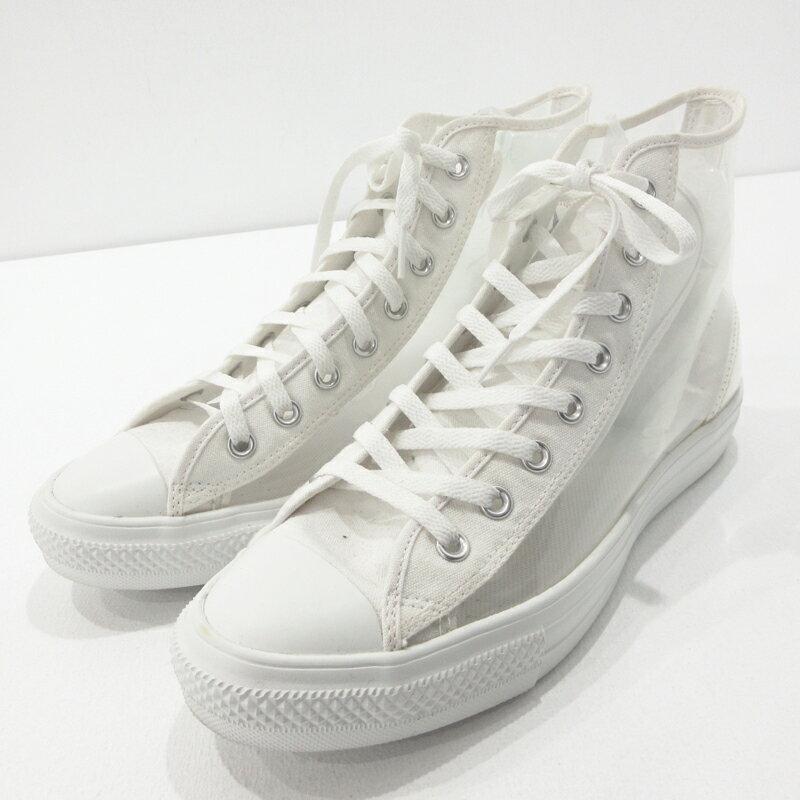 メンズ靴, スニーカー CONVERSE ALL STAR LIGHT CLEARMATERIAL HI WHITE 31300441 28f126