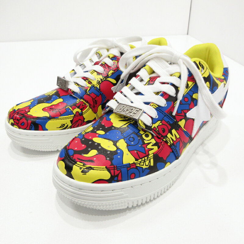メンズ靴, スニーカー A BATHING APEMEDICOM TOY CAMO BAPE STA LOW 1G73-191-912 - 26f126