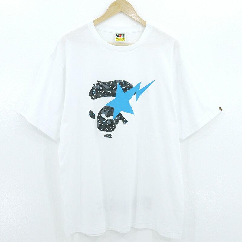 トップス, Tシャツ・カットソー A BATHING APE SPACE CAMO APE FACE ON BAPESTA TEE T 2XLf103