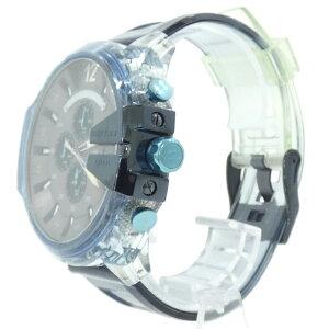 【中古】DIESEL×STEVE AOKI|ディーゼル×スティーヴ・アオキ 腕時計 MEGA CHIEF メガチーフ DZ4487 クリアブルー【f131】