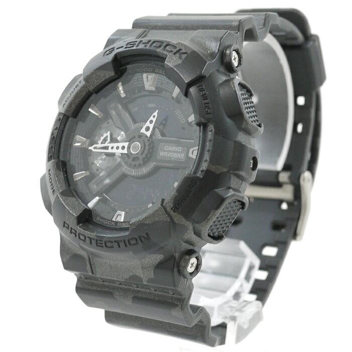 【中古】CASIO/カシオ 腕時計 G-SHOCK/Gショック BIG CASE GA-110CM Camouflage Series カラー:ブラック系(迷彩)【f131】