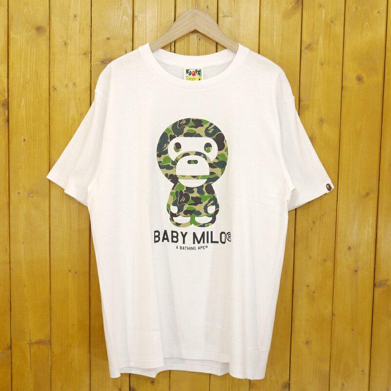トップス, Tシャツ・カットソー A BATHING APE CAMO BABY MILO TEE T M f103