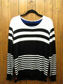 【中古】GLAMB by glamb/グラムバイグラム セーター サイズ:表記なし カラー:ホワイト・ブラック(ボーダー柄) / ドメス