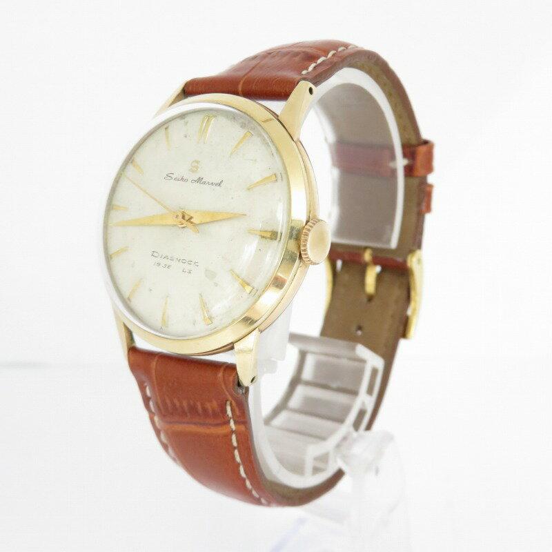 腕時計, メンズ腕時計 SEIKO MARVEL DIASHOCK 19 JEWELS 14KGF 58 ()f131
