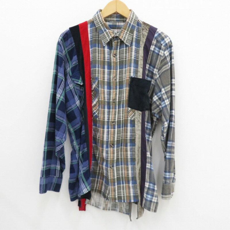 トップス, カジュアルシャツ Needles Rebuild by Needles 7 Cuts Shirt M f099