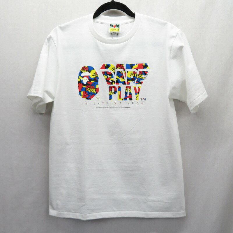 トップス, Tシャツ・カットソー A BATHING APEMEDICOM TOY 19SS CAMO BAPE PLAY TEE T M f103