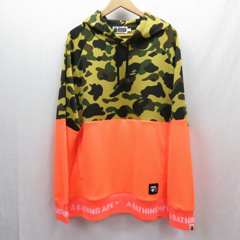 トップス, パーカー A BATHING APE 1ST CAMO WIDE SIDE ZIP PULLOVER HOODIE XL f103