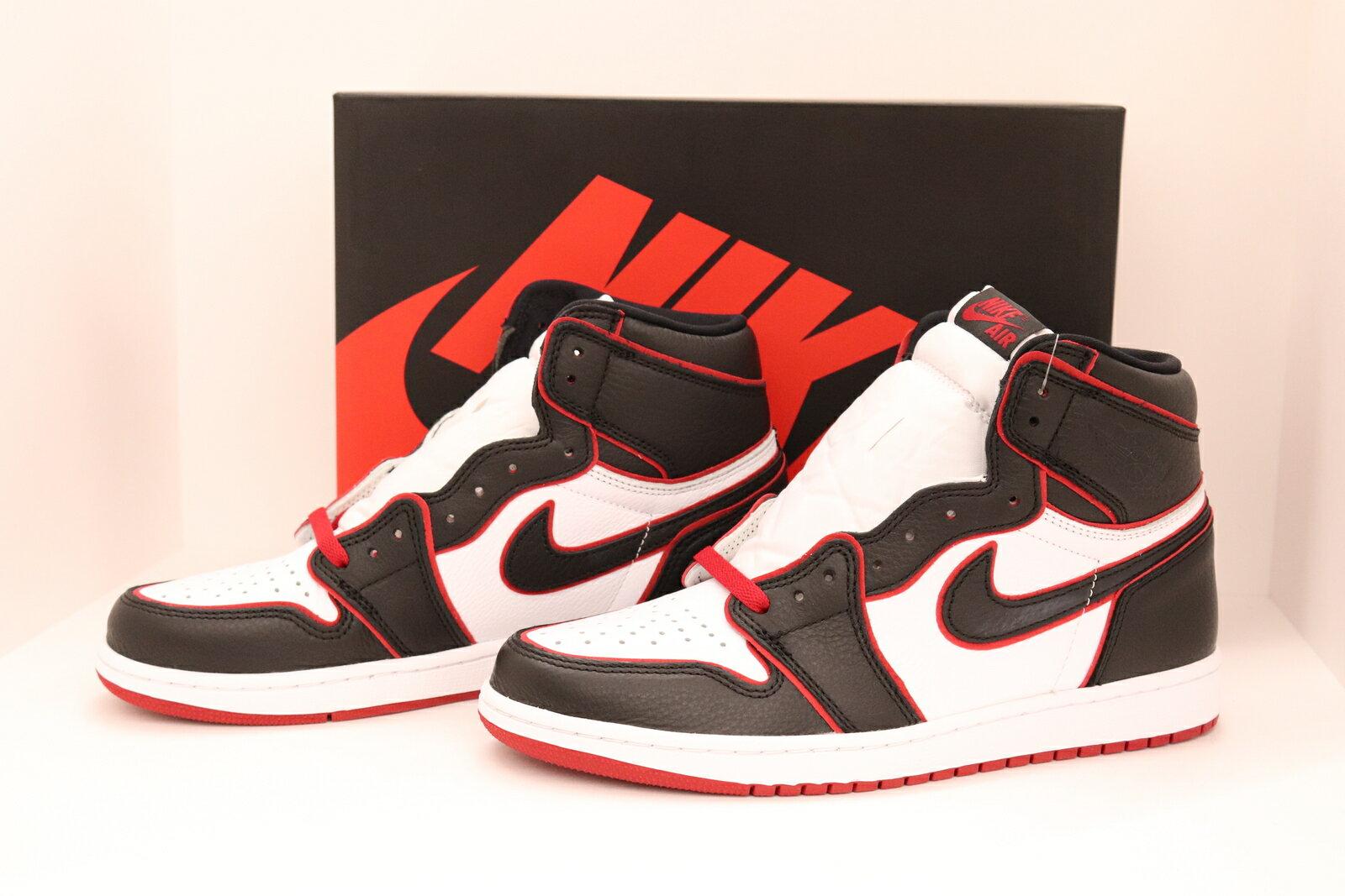 メンズ靴, スニーカー NIKEAIR JORDAN 1 RETRO HIGH OGAJ1BLOOD LINE555088 06228.0cmBLKREDWHT