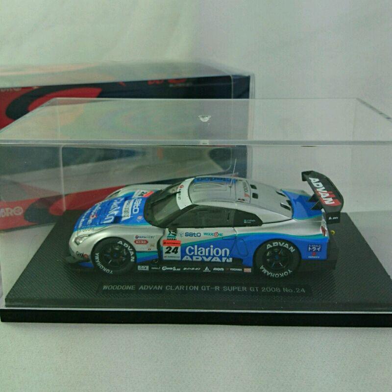 車, ミニカー・トイカー EBBRO 143 WOODONE ADVAN CLARION GT-R SUPER GT 2008 No.24 240010291269