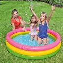 ビニールプール 丸型プール 140cm 家庭用 プール エア...