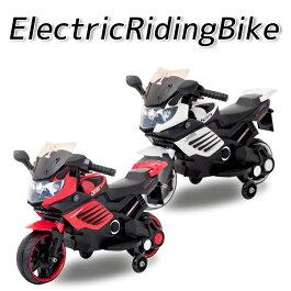 【ラッピング対応可】電動乗用バイク充電式乗用玩具レーシングバイク子供用三輪車キッズバイク補助輪付き###バイクCBK-061###
