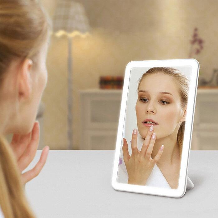 鏡, 卓上ミラー  LED USB TD7023D