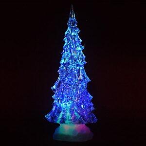 【11月下旬入荷予定】LEDウォーターツリークリスマスツリーミニツリー卓上ツリーイルミネーションLEDライトアクリルツリークリスマスライトモチーフライト送料無料###ツリーWDL-1854###