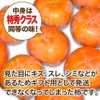 【送料無料】【農家より直送!】奈良西吉野産L玉富有柿7.5kg箱(28個入り)