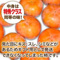【送料無料】【農家より直送!】奈良西吉野産わけあり富有柿4kg(12個入り)【サイズ2L〜3L】