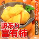 【送料無料】【農家より直送!】奈良西吉野産わけあり富有柿(12個入り・約3.5kg)【サイズ2L〜3L】