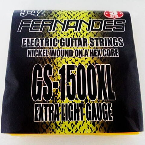 FERNANDES GS-1500XL フェルナンデス エレキギター弦(3セットパック)【smtb-ms】【RCP】【zn】