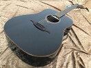 【即日発送O.K】LAGGUITARST100D-BLKエレクトリック・アコースティックギター【smtp-ms】【RCP】【zn】
