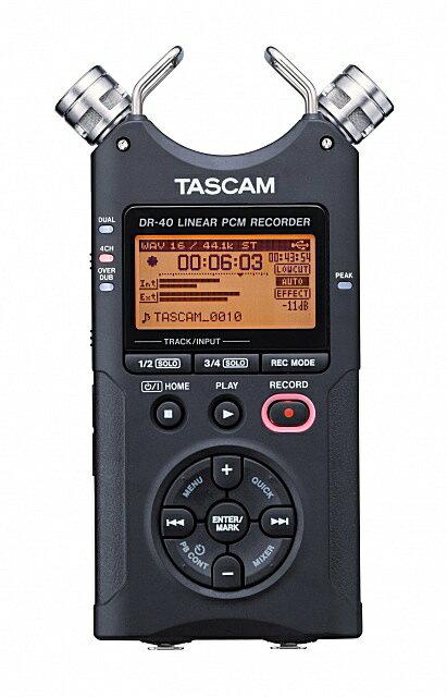 DAW・DTM・レコーダー, ポータブルレコーダー・フィールドレコーダー TASCAM DR-40 VER2-J 2496PCMRCPzn