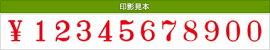 テクノタッチ回転印欧文12連(明朝体)2号