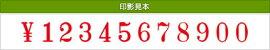 テクノタッチ回転印欧文12連(明朝体)3号