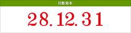 テクノタッチ回転印欧文日付5連(明朝体)2号