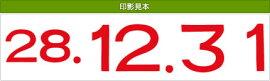テクノタッチ回転印定期用日付【ニ】