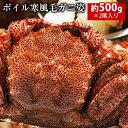 【送料無料】ボイル寒風毛ガニ姿約500g×2尾...