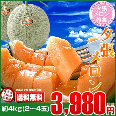 北海道の夏といえばやっぱり夕張メロン♪ジュルッとしたたる甘〜い果汁はもちろん糖度も抜群で...