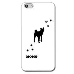 【メール便可】【世界で一つだけのオリジナルケース】iPhone5ケース/カバーiPhone5用ケースホワイト秋田犬