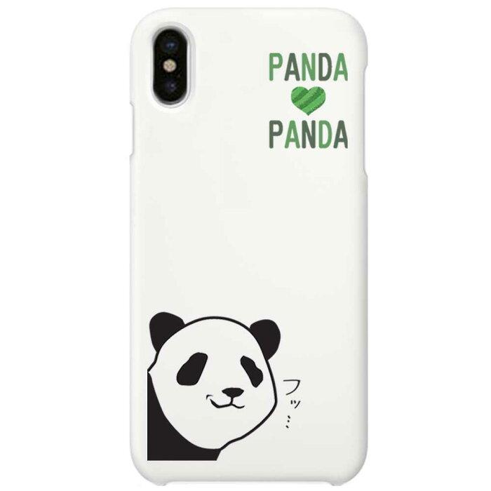 【メール便可】 iPhone X ケース ハード pc カバー ホワイトケース パンダドヤ顔   iPhoneケース パンダ iPhoneカバー x ドッグ 白 iphonexケース iphonexカバー かわいい おもしろ x iphonex 雑貨 アイフォン アイフォンxケース