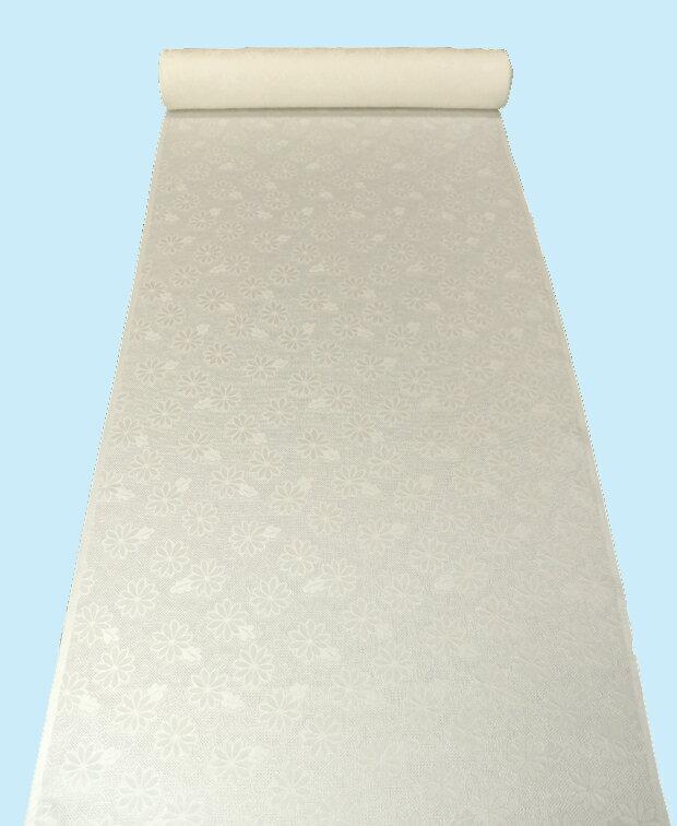 『ふるるん』水で洗える正絹長襦袢地【紋紗シリーズ 白色】フルオーダー仕立て付き