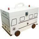 木製のかわいい 救急箱救急車型 白 イシグロ60057 木製 救急箱 かわいい おしゃれ 【はこぽす対応商品】【コンビニ受取対応商品】