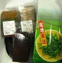 【くすくす館】のおやっとさあ【蒲生茶】セットを、ご賞味ください。 蒲生煎茶(500g)、蒲生のふくれ菓子三色、蒲生の小豆羹、蒲生のいこもち