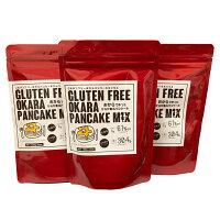 グルテンフリーおからパンケーキミックス120gパック✕10袋/セット小麦粉不使用国産