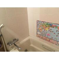世界が見える世界地図シリーズ/お風呂場でも貼れる!「世界の言葉でこんにちは・ありがとう」版