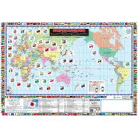 世界地図『国歌が聞こえる世界地図』