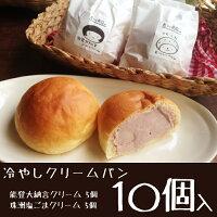【能登の恵み】冷やしクリームパン10個入り【チルド送料込】