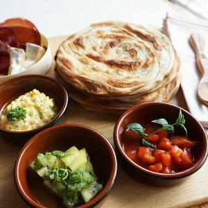 パラタ (無添加手作り半焼成パン) 4枚入り400g インドのパン クロワッサンとナンの良いとこ取り♪paratha