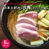 合鴨肉 胸(チェリバレー種)5枚セット 約900-1000g 大容量 送料無料 約10人前 業務用(冷凍)