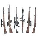 1/6スケール ライフル コレクション ジオラマ フィギュア ( 6モデル )Gewehr 43 SVT-40 RPG-7 など