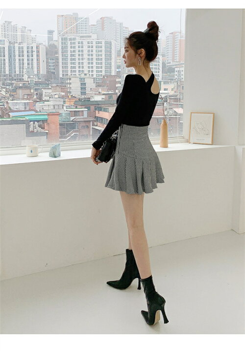 レディースワンピース2点セットトップススカートaラインミニスカートドレスキャバ嬢長袖Vネックフリルチェック柄ミモレ丈着痩せ大きいサイズオシャレエレガント大人かわいい上品フォーマルオフィスレディーOLお呼ばれ韓国ファッション