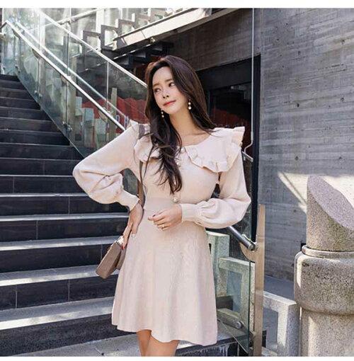 秋新作タイトワンピース姫系ワンピースパーティドレス無地ワンピースミニワンピース膝上丈Vネックチュール袖セクシーオフィスレディーOL大きいサイズお嬢様大人かわいいひざ丈エレガント二次会結婚式20代30代40代韓国ファッション